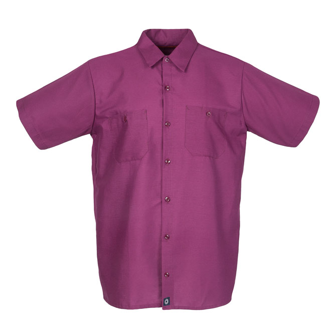 S12WI-Industrial Men's Shirt, Short Sleeves, 65/35