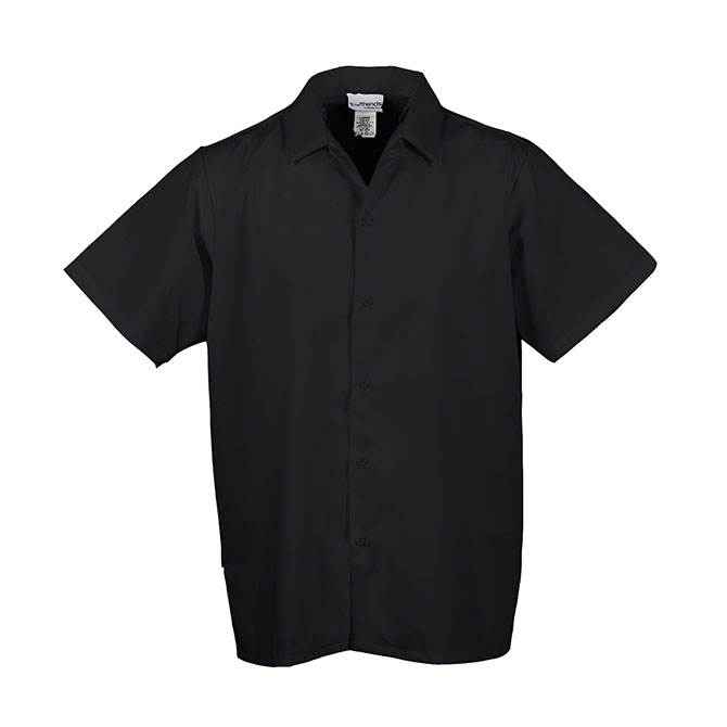 S139-Cook Shirt, Mesh V Back Vent, Button Front