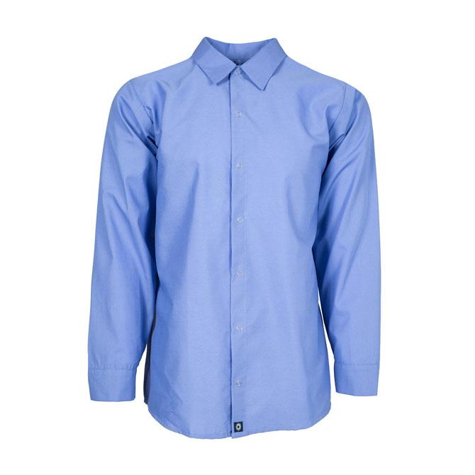 S14GB-Industrial Men's Shirt, Gripper Front, 65/35