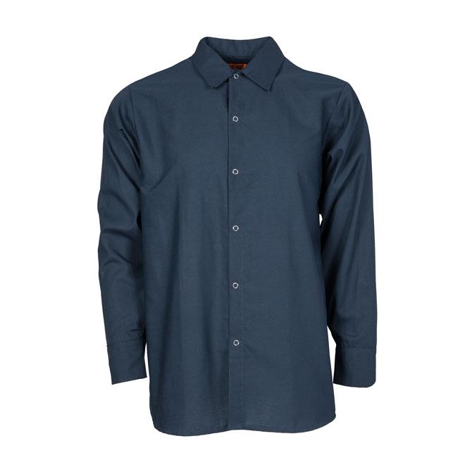 S14NV-Industrial Men's Shirt, Gripper Front, 65/35