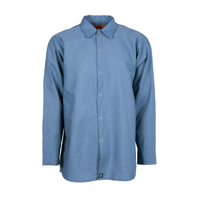 S14PB-Industrial Men's Shirt, Gripper Front, 65/35