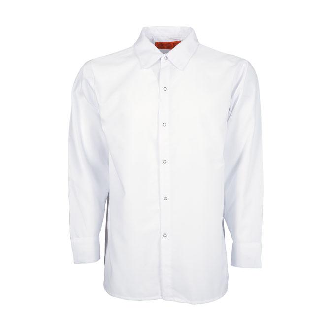 S14WH-Industrial Men's Shirt, Gripper Front, 65/35