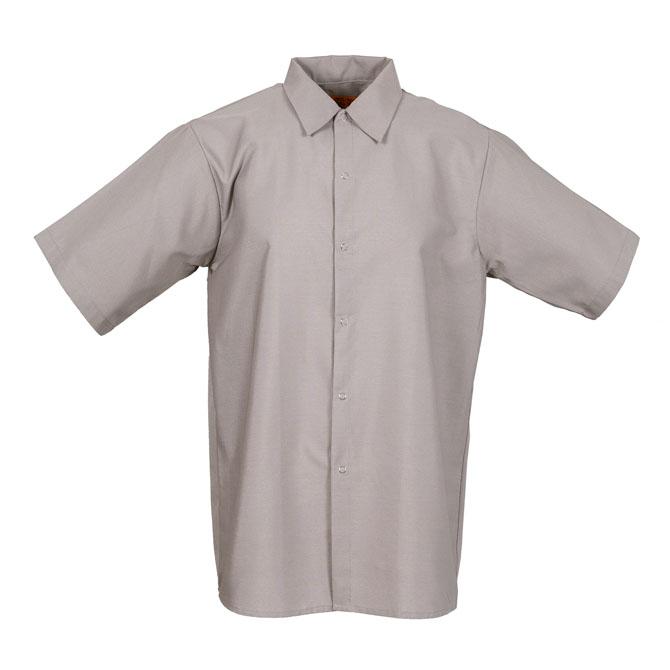S16GG-Industrial Men's Shirt, Gripper Front, Short Sleeves