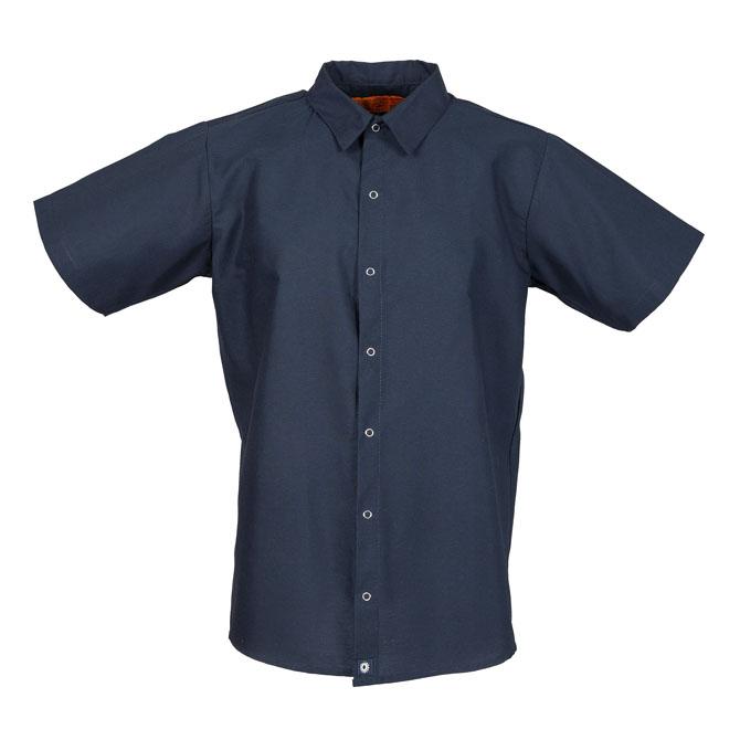 S16NV-Industrial Men's Shirt, Gripper Front, Short Sleeves