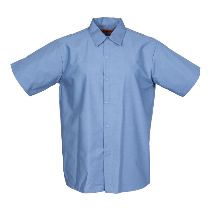 S16PB-Industrial Men's Shirt, Gripper Front, Short Sleeves
