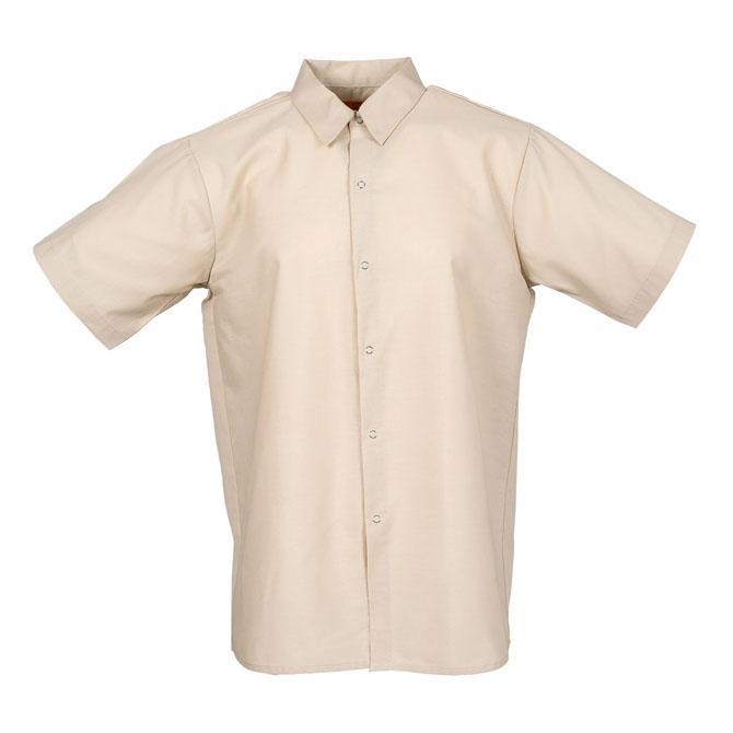 S16TA-Industrial Men's Shirt, Gripper Front, Short Sleeves