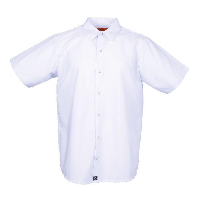 S16WH-Industrial Men's Shirt, Gripper Front, Short Sleeves