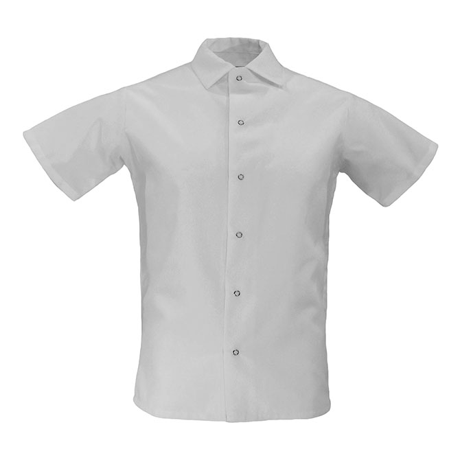 S315-Cook Shirt, Spun Poly, No Pocket, Grippers