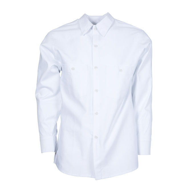 S40WH-Industrial Shirt, Cotton, Button Front