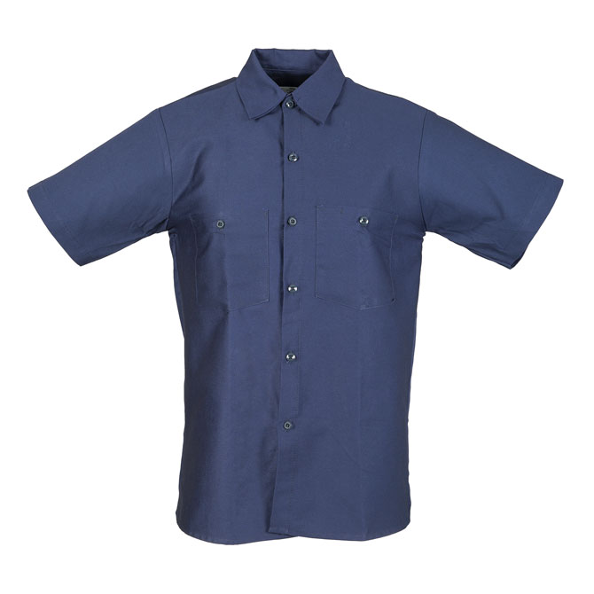 S42NB-Industrial Male Work Shirt, Half/Short Sleeves