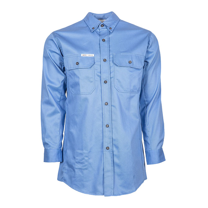 SH04-6720 (MB) PeakFR 88/12 Cotton/Nylon Blend Long Sleeve Flame Resistant Button Front Shirt