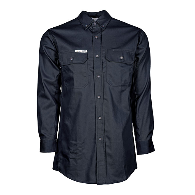 SH04-6705 (NV) PeakFR 88/12 Cotton/Nylon Blend Long Sleeve Flame Resistant Button Front Shirt