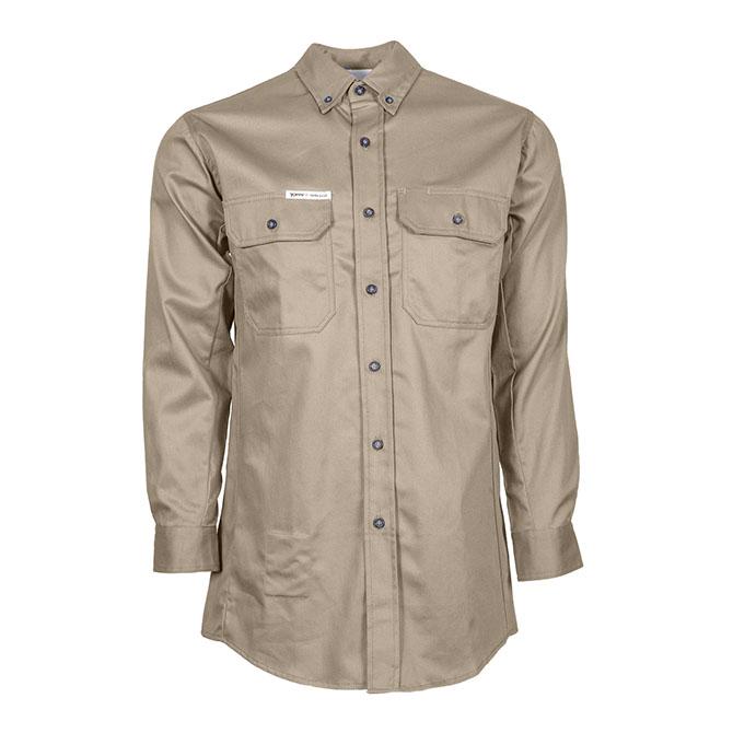 SH04-6750 (TA) PeakFR 88/12 Cotton/Nylon Blend Long Sleeve Flame Resistant Button Front Shirt