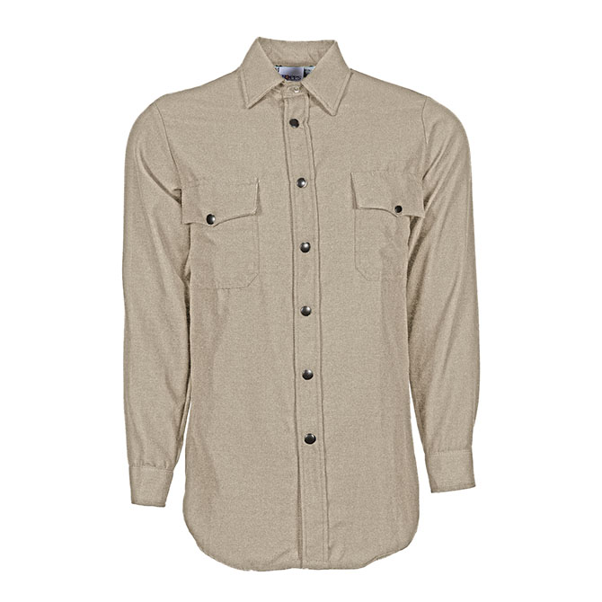 SH15-5550 (TA) Nomex Long Sleeve Flame Resistant Snap-Front Shirt