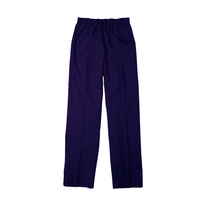 SP63F Purple - Scrub Pant, Full Elastic Waist, 65/35 Blend