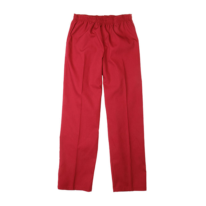 SP63F Red - Scrub Pant, Full Elastic Waist, 65/35 Blend