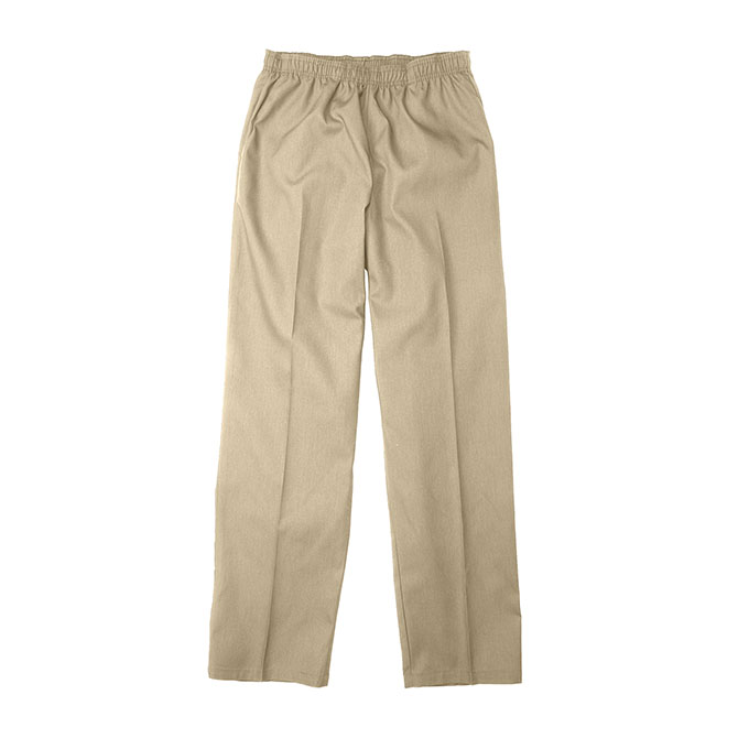 SP63F Tan - Scrub Pant, Full Elastic Waist, 65/35 Blend