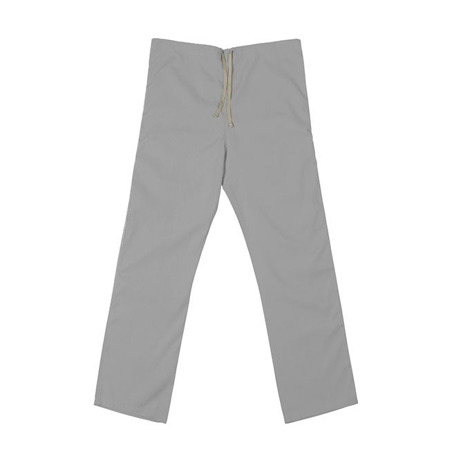 SP60U Gray - 65/35Poly/Cotton Poplin Scrub Pant