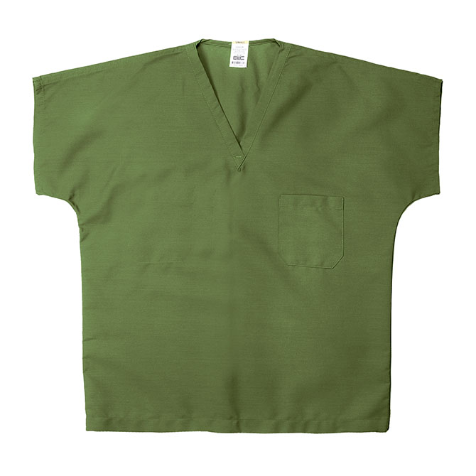 ST60U Olive - 65/35 Poly/Cotton Poplin V-Neck Scrub Top