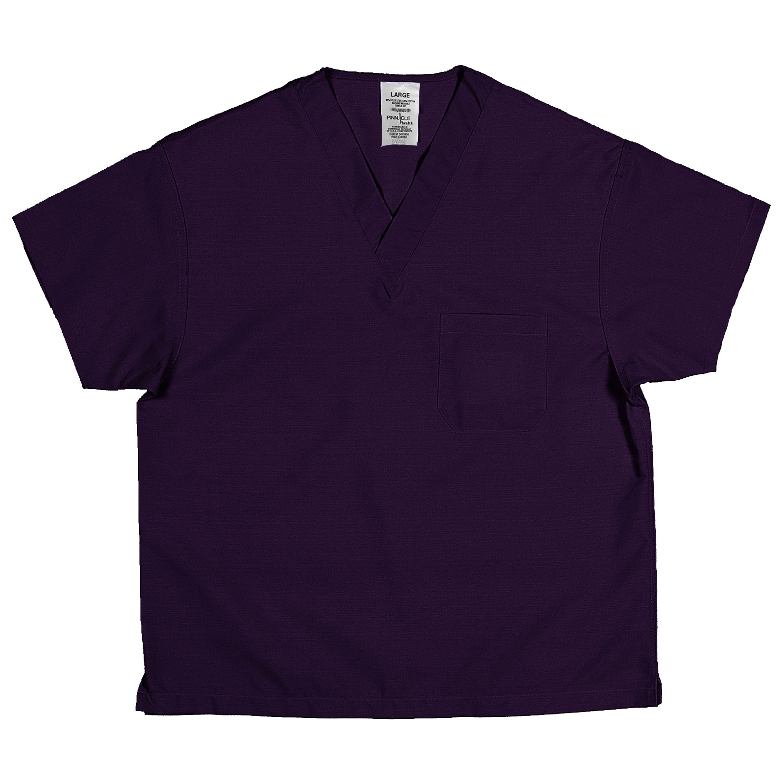 ST61U Purple - Scrub Top, Non-reversible, Unisex, 65/35