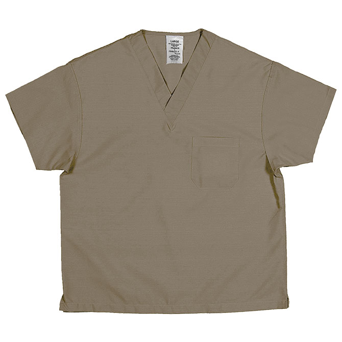 ST61U Tan - Scrub Top, Non-reversible, Unisex, 65/35
