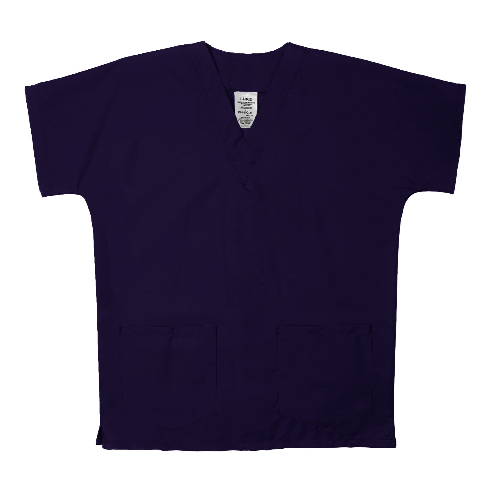 ST62U Purple - Scrub Tunic Top, Unisex, 65/35 P/C