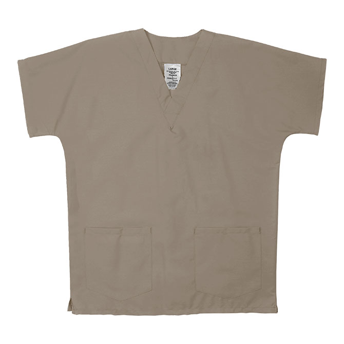 ST62U Tan - Scrub Tunic Top, Unisex, 65/35 P/C