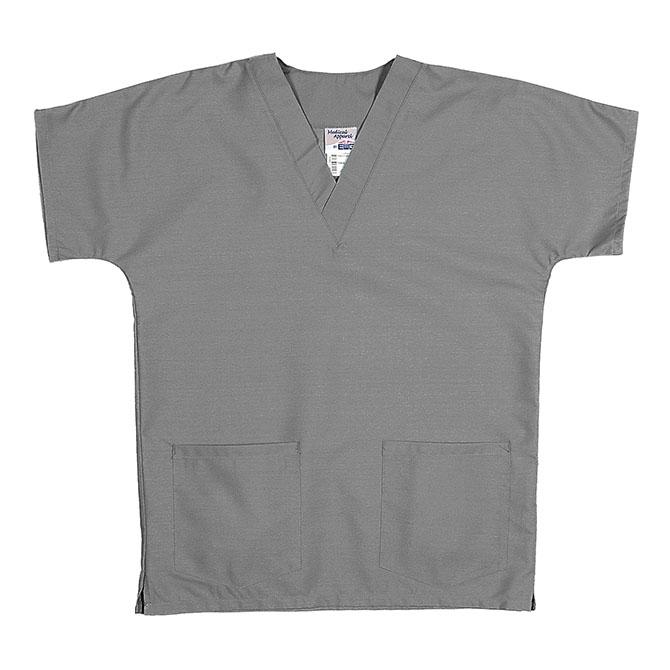 ST62U Gray - Scrub Tunic Top, Unisex, 65/35 P/C