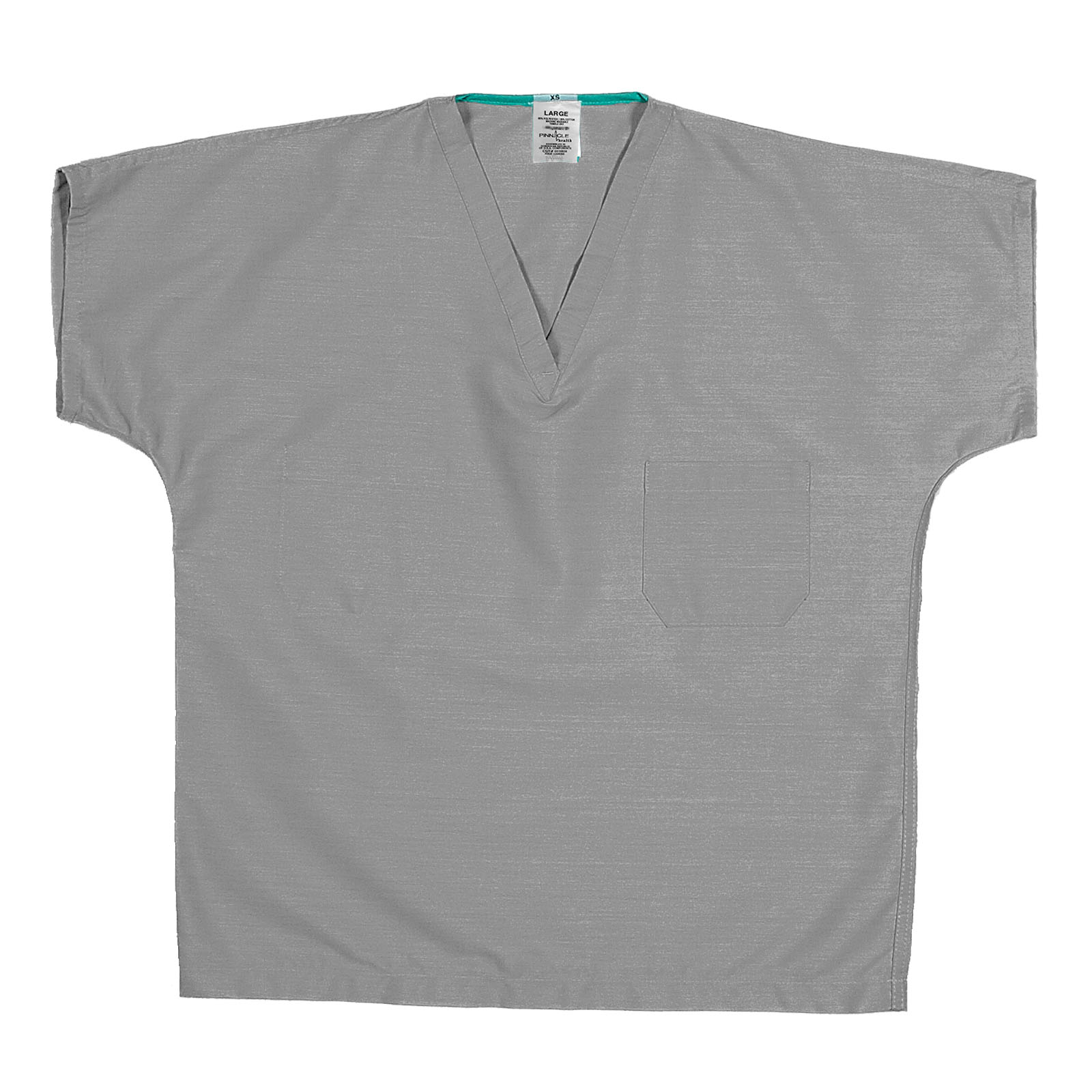 ST60U Gray - 65/35 Poly/Cotton Poplin V-Neck Scrub Top