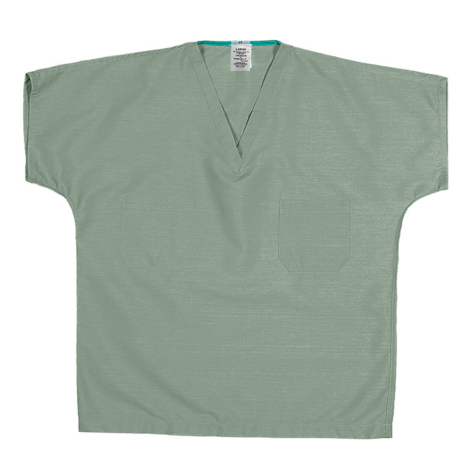ST60U Misty Green - 65/35 Poly/Cotton V-Neck Scrub Top