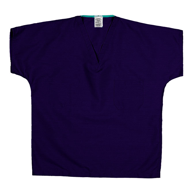 ST60U Purple - 65/35 Poly/Cotton Poplin V-Neck Scrub Top