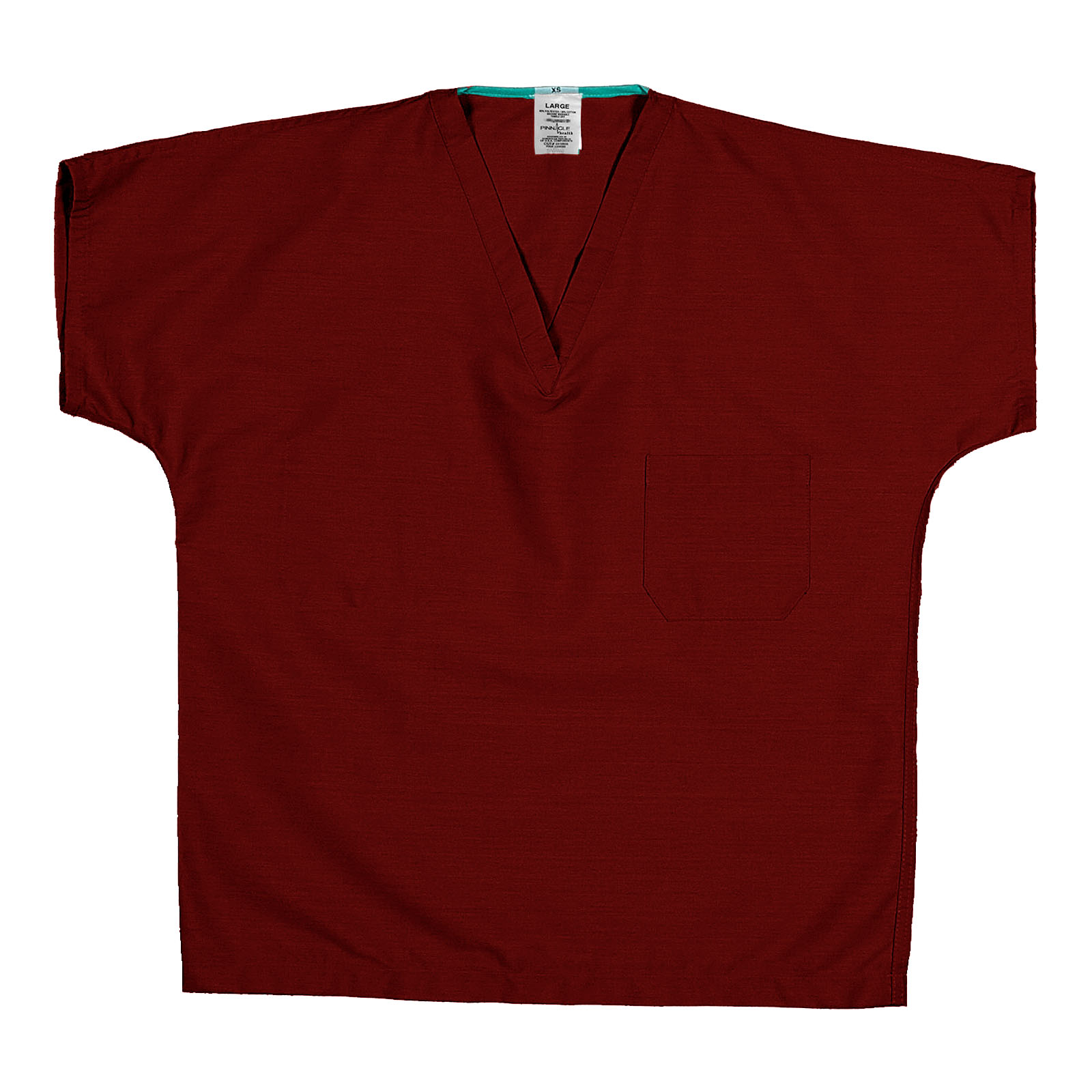 ST60U Red 65/35 Poly/Cotton Poplin V-Neck Scrub Top