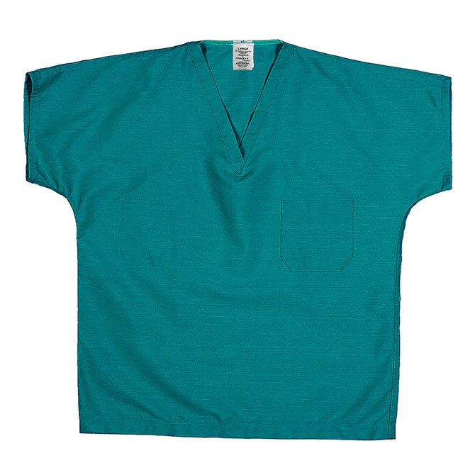 ST60U Teal - 65/35 Poly/Cotton Poplin Scrub Top