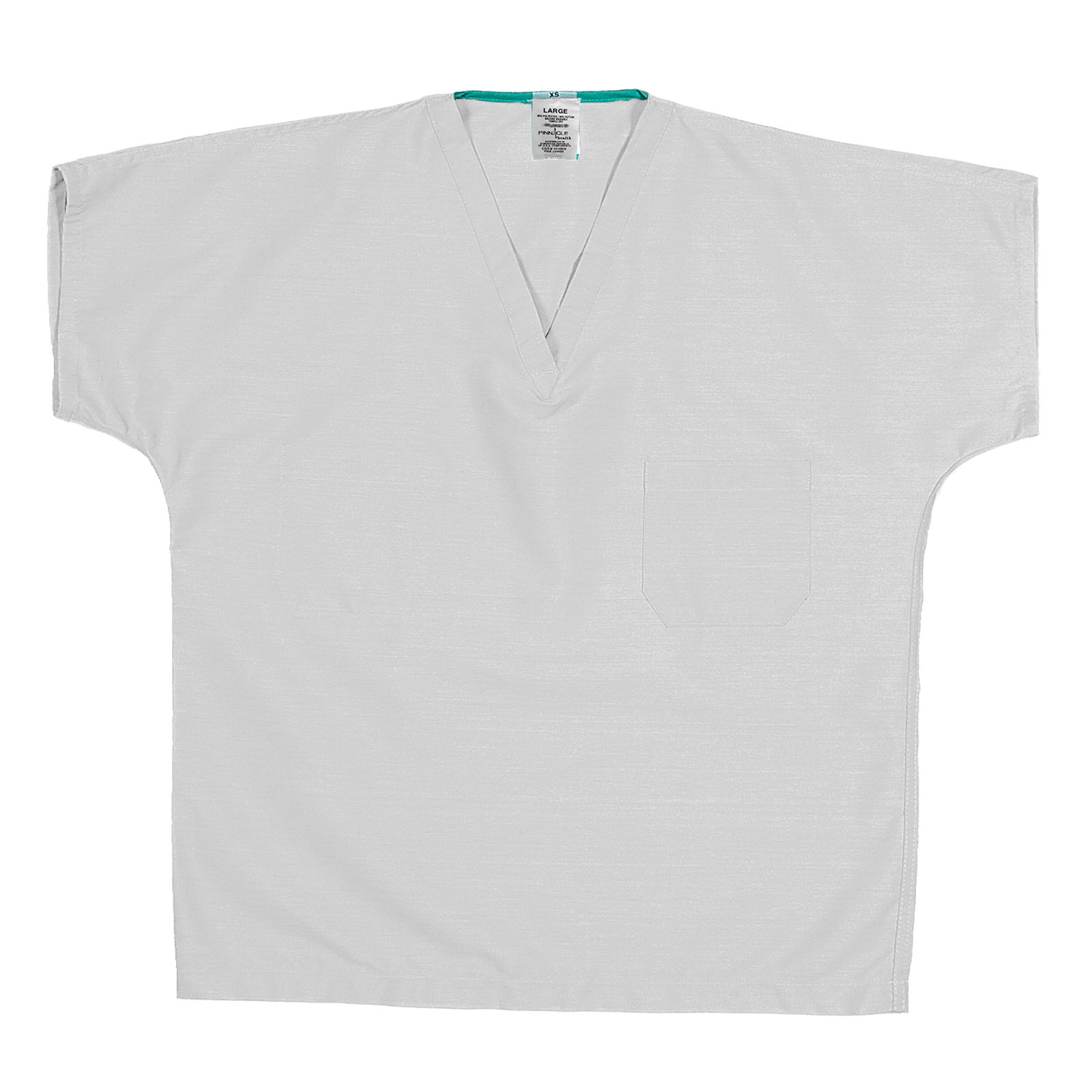ST60U White - 65/35 Poly/Cotton Poplin Scrub Top