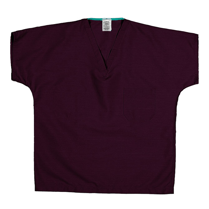 ST60U Wine - 65/35 Poly/Cotton Poplin Scrub Top