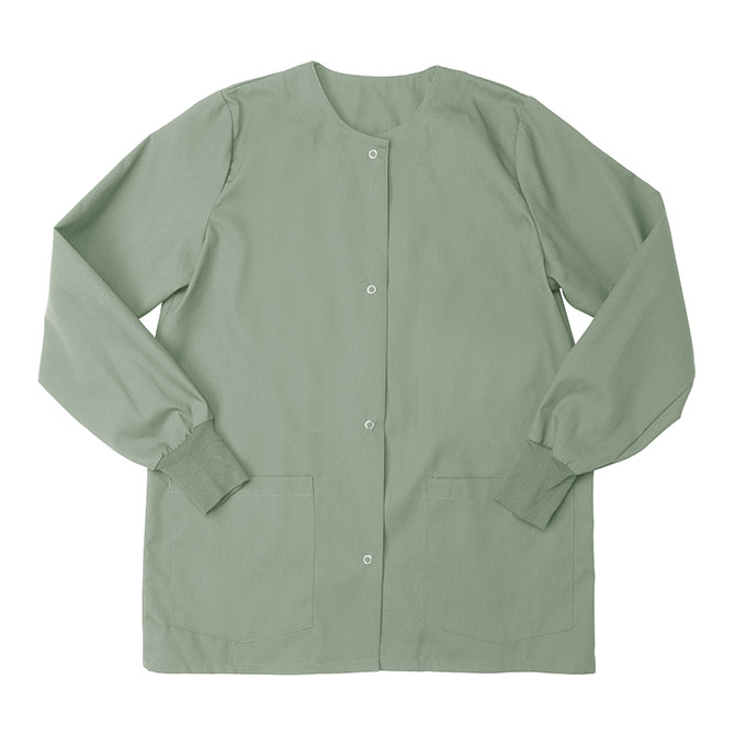 SW68F Misty Green - Warm Up Jacket, Female, Knit Cuffs