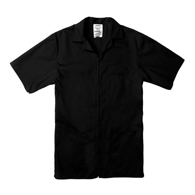 SZ15BL-Professional Zip-Front Shirt, 65/35 Poplin