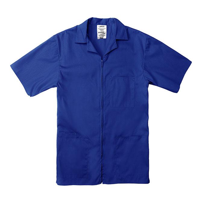 SZ15RO-Professional Zip-Front Shirt, 65/35 Poplin