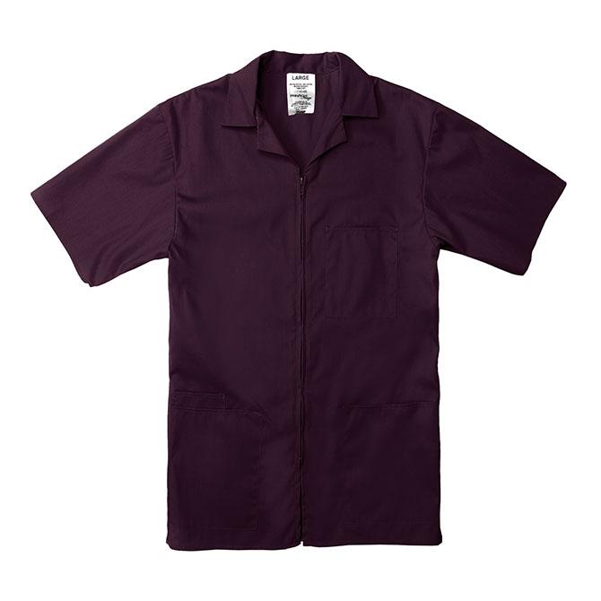 SZ15WI-Professional Zip-Front Shirt, 65/35 Poplin