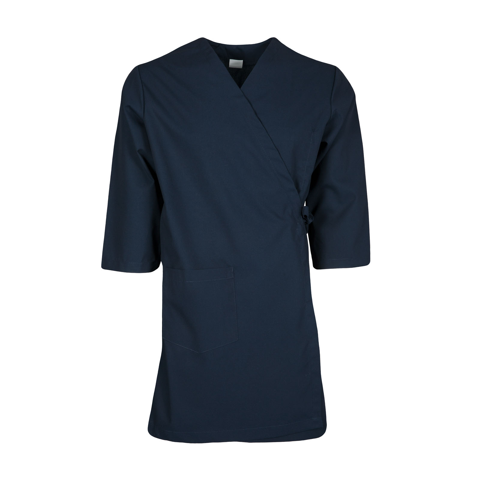 WR17NB-Wrap Gown, 3 Pockets, 65/35 Poplin