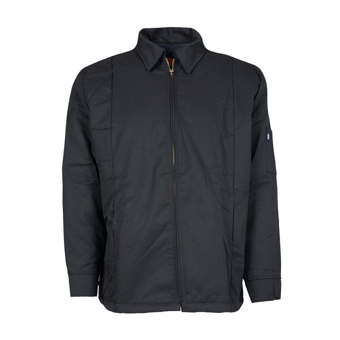JL14BL-Panel Jacket, 65/35 Twill, Zipper Front